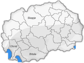 Map of Macedonia with city locations of Hertz Macedonia